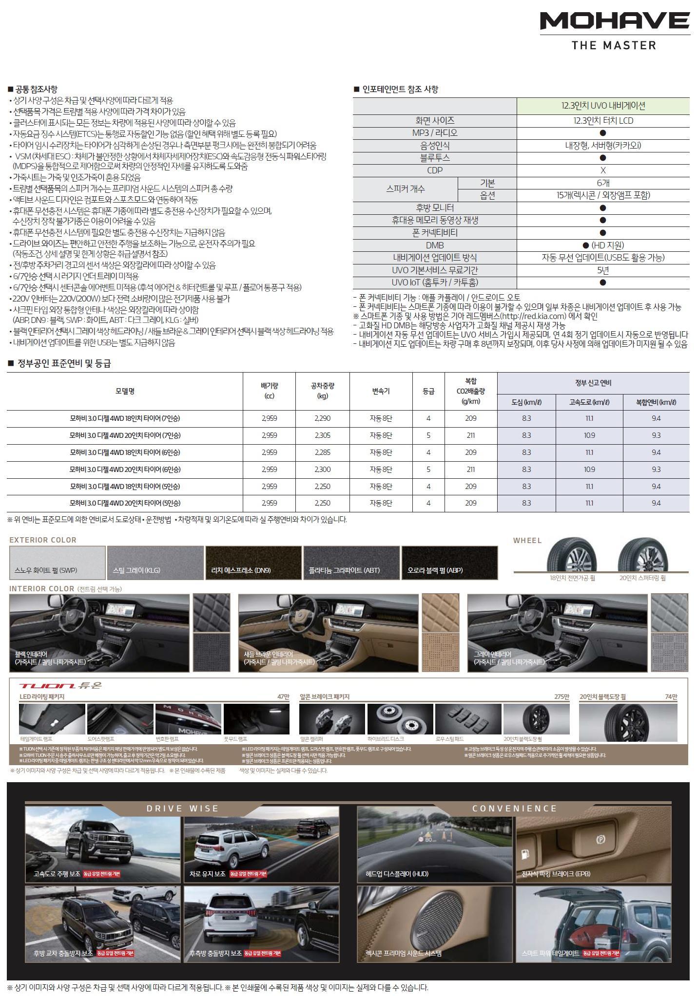 모하비 가격표 - 2019년 09월 -2.jpg