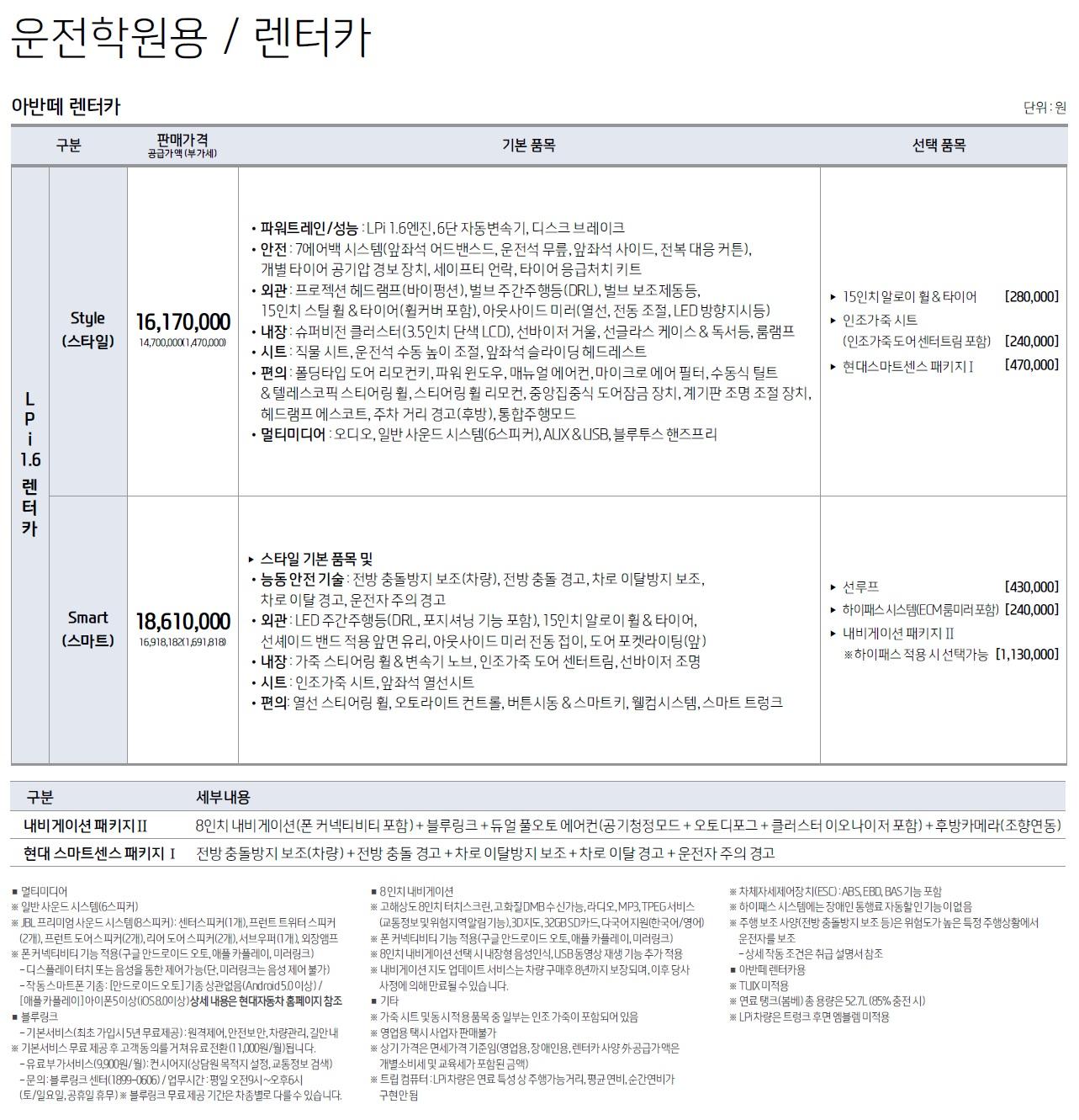 더뉴아반떼 가격표 - 2018년 9월 -6.jpg
